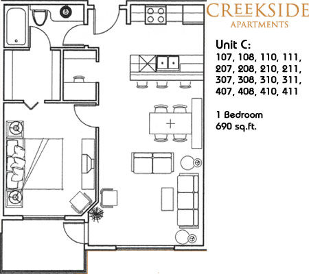 Creekside Suite Floor Plans