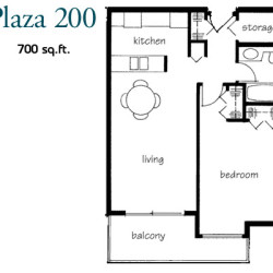 Plaza 200 Apartment Floor Plans