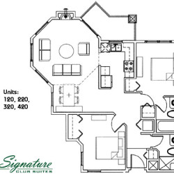 Signature Club Suites Floor Plans